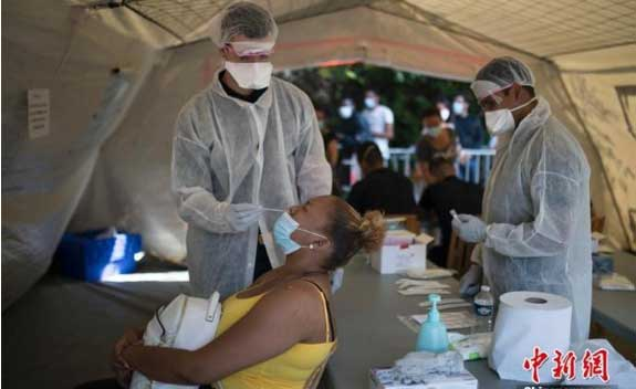 法国确诊病例超55万例巴黎感染率突破官方最高警戒阈值