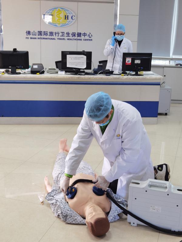 保健中心举办新冠病毒职业暴露和预防接种异常反应应急处置演练